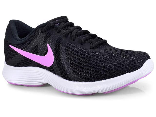 Tênis Feminino Nike 908999-011 Wmns Revolution 4 Preto/lilas