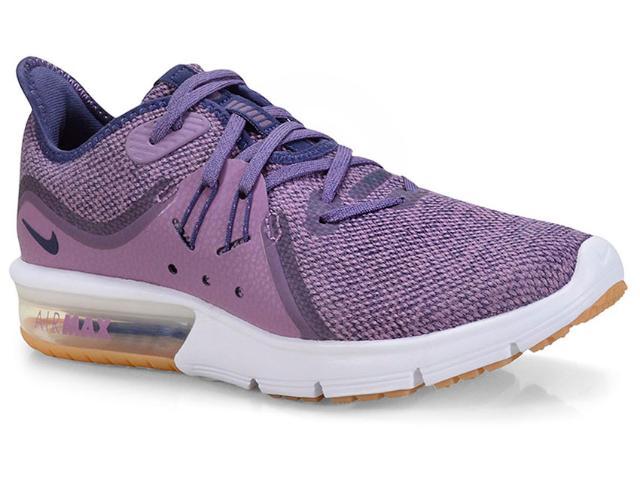 Tênis Feminino Nike 908993-501 Wmns Air Max Sequent 3 Roxo/branco
