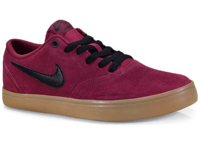 Tênis Masculino Nike 843895-601 sb Check Solar Skateboarding Vermelho/preto