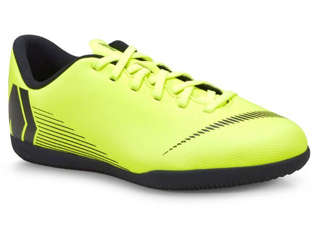 Tênis Masc Infantil Nike Ah7354-701 jr Vapor 12 Club Limão/preto