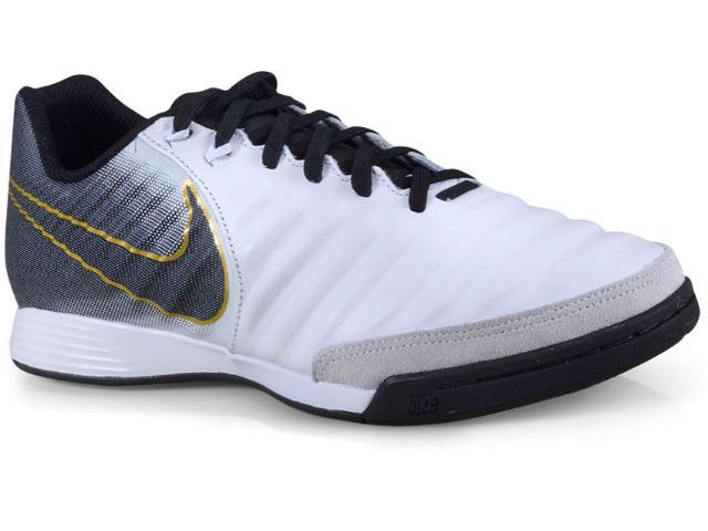 Tênis Masculino Nike Ah7244-100 Tiempo Legendx 7 Branco/preto/dourado
