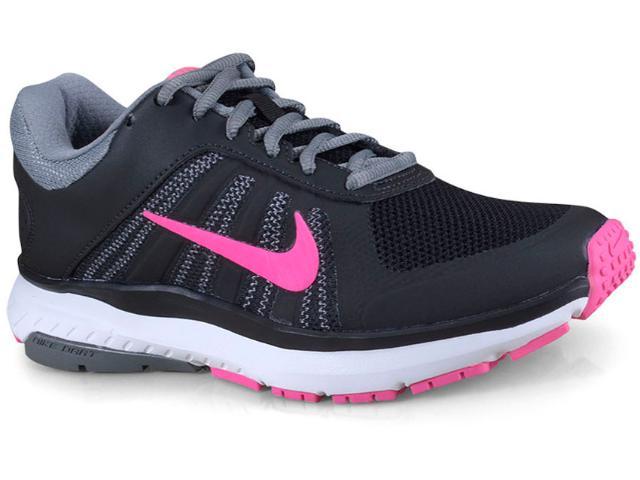 Tênis Feminino Nike 831539-006 Wmns Dart 12 Msl  Preto/cinza/rosa