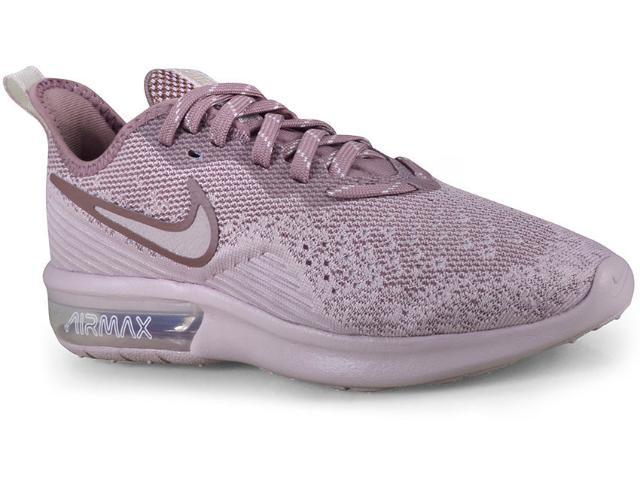 Tênis Feminino Nike Ao4486-600 Air Max Sequent 4 Rosa Claro