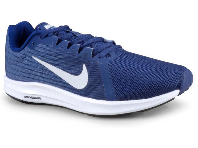 Tênis Masculino Nike 908984-404 Downshifter  8 Marinho/branco
