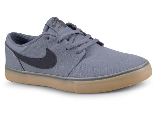 Tênis Masculino Nike 880268-009 sb Portmore ii  Cinza/preto