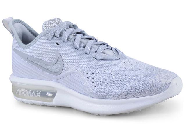 Tênis Feminino Nike Ao4486-100 Air Max Sequent 4 Cinza