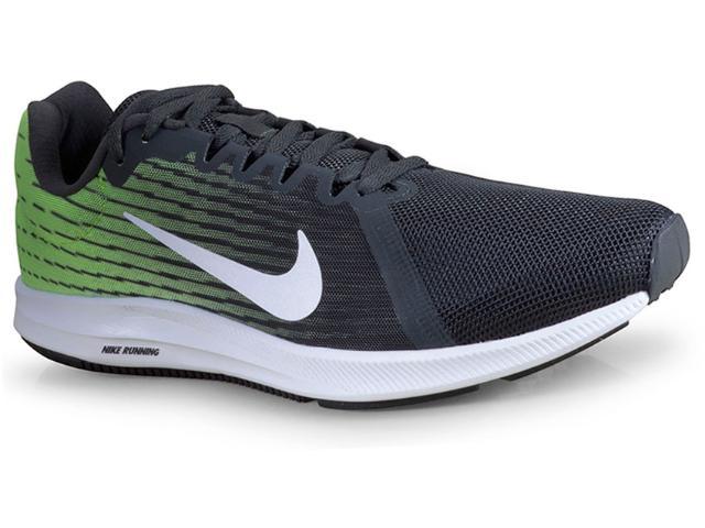 Tênis Masculino Nike 908984-013 Downshifter 8  Preto/limão