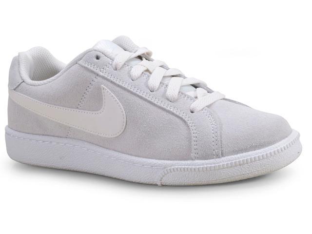Tênis Feminino Nike Aj7731-001 Wmns Court Royale Cinza/branco
