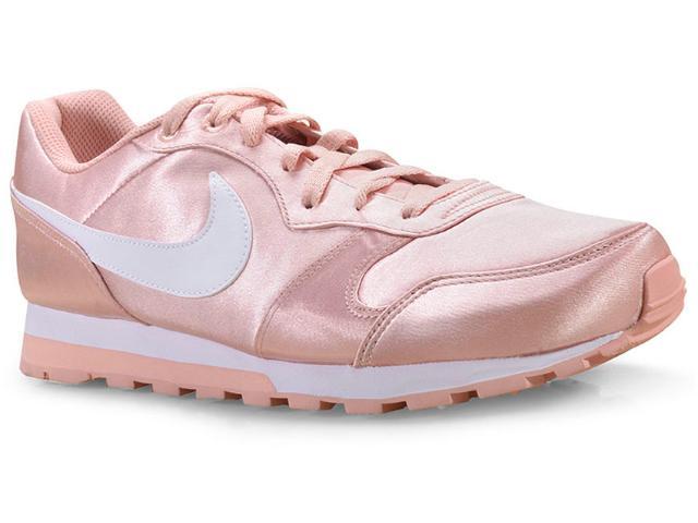 Tênis Feminino Nike 749869-603 Wmns md Runner 2 Rosa Claro