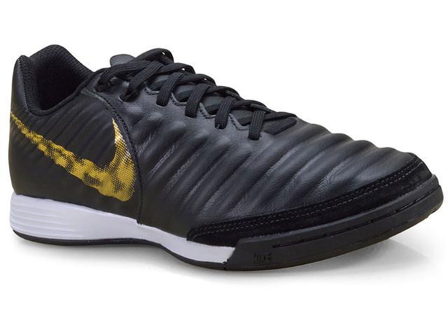 Tênis Masculino Nike Ah7244-077 Legendx 7 Academy ic Preto/dourado