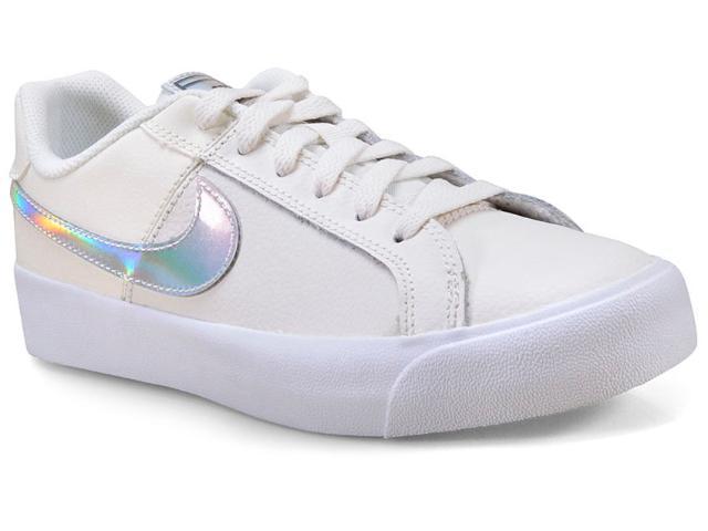 Tênis Feminino Nike Ao2810 104 Court Royale Ac Off White Prata