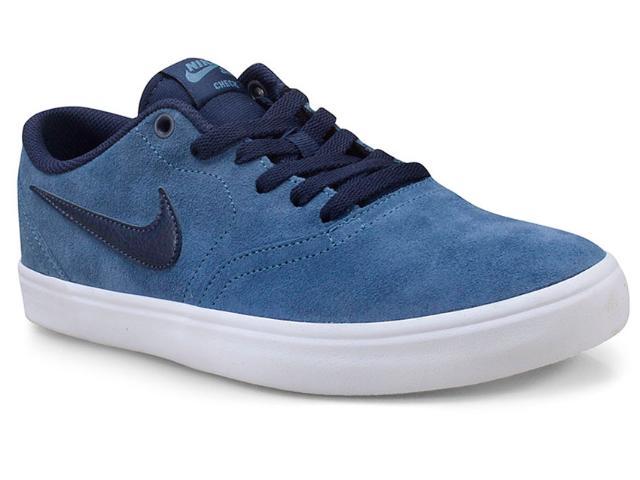 Tênis Masculino Nike 843895-405 sb Solar Soft Skateboarding Azul/marinho