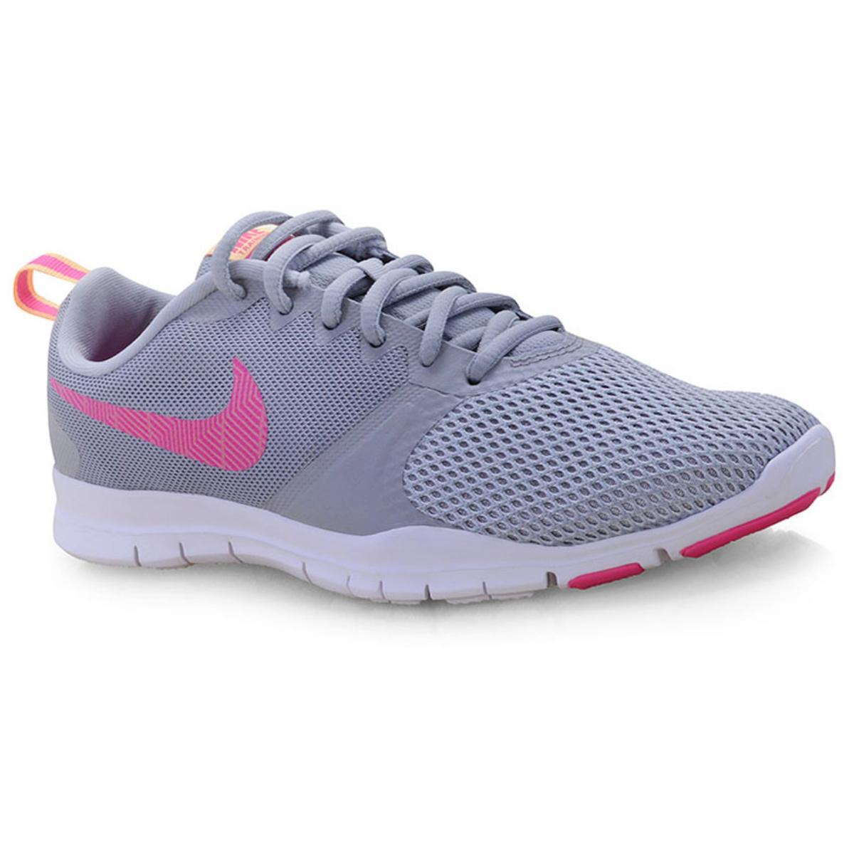 Tênis Feminino Nike 924344-008 Wmns Flex Essential Training Shoe Cinza/rosa