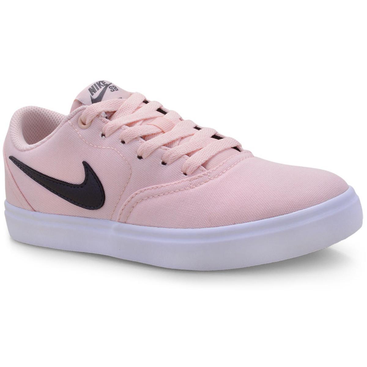 Tênis Feminino Nike 921463-602 sb Check Solar Soft Canvas Pêssego/branco/grafite