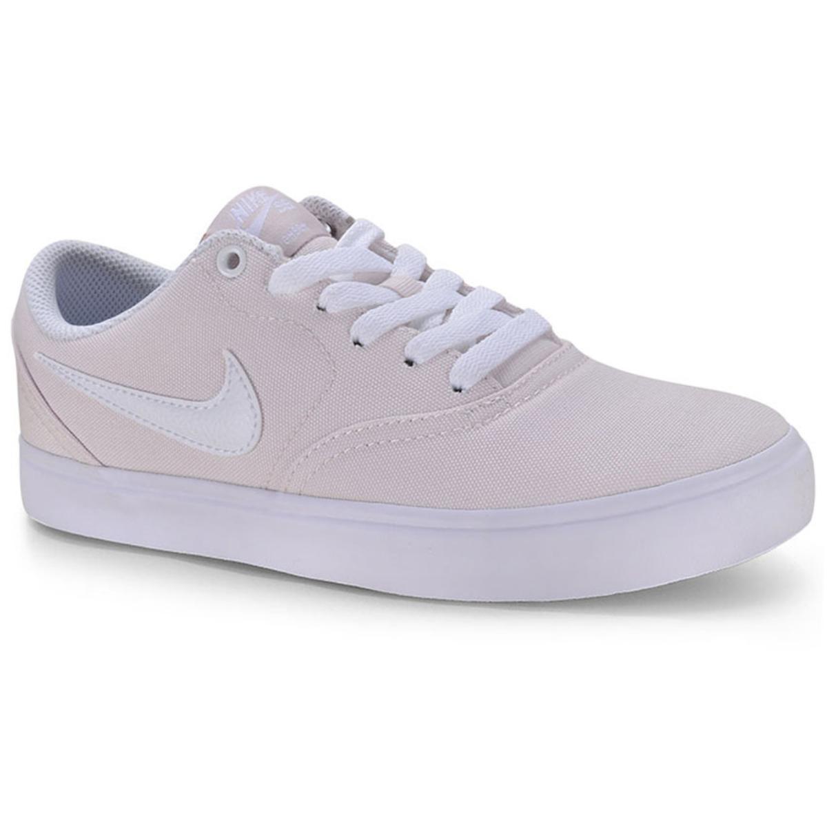 Tênis Feminino Nike 921463-603 sb Check Solar Cnvs Bege