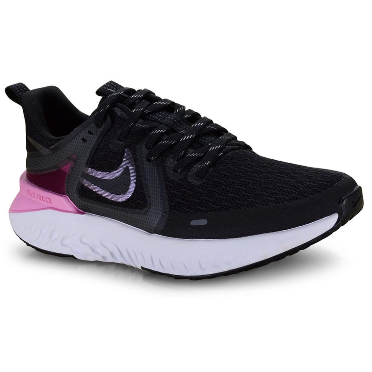 Tênis Feminino Nike At1369-004  Legend React Preto/rosa