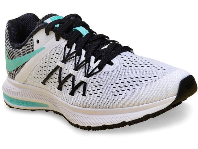 Tênis Feminino Nike 831562-101  Air Zoom Winflo 3  Branco/verde