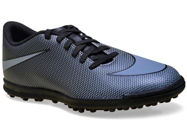 Tênis Masculino Nike 844437-004 Mens Bravata ii Turf Preto/prata