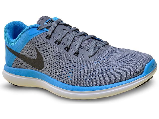 Tênis Feminino Nike 830751-007 Flex 2016 rn  Cinza/azul