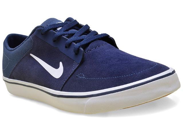 Tênis Masculino Nike 725027-413 sb Portmore  Marinho/branco