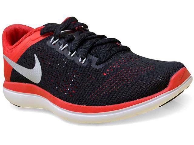 Tênis Masculino Nike 830369-006 Flex 2016 rn  Preto/vermelho