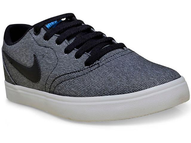 Tênis Masculino Nike 843896-004 sb Check Canvas Preto/branco