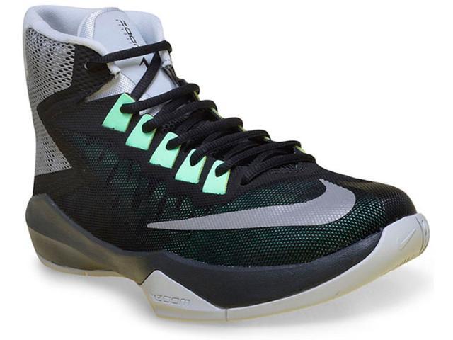 Tênis Masculino Nike 844592-003 Zomm Devosion Baskeball Preto/cinza/verde