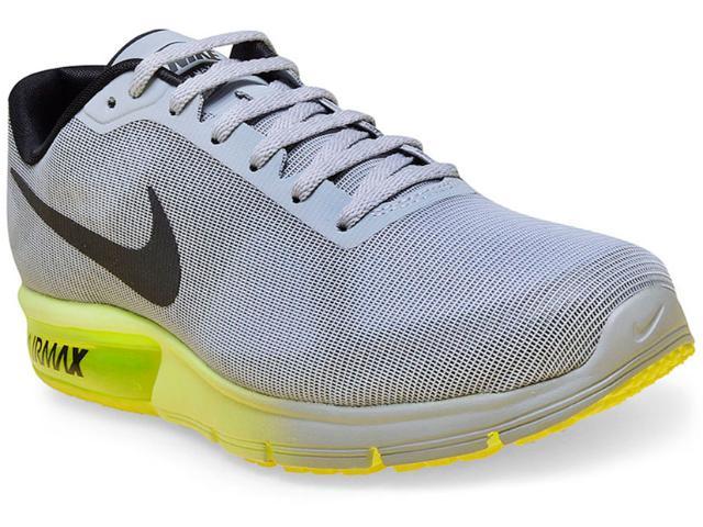 Tênis Masculino Nike 719912-013 Air Max Sequent Cinza/preto/limão