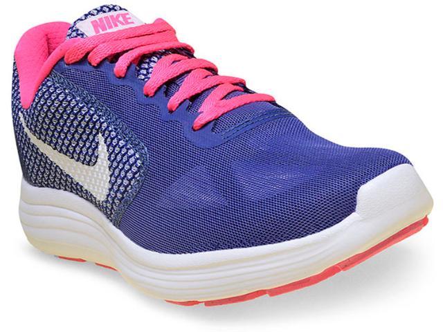 Tênis Feminino Nike 819303-502 Revolution 3 Roxo/pink