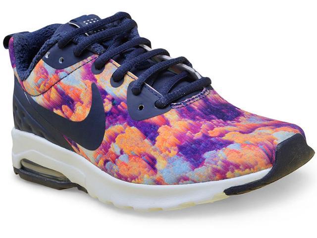 Tênis Feminino Nike 844890-401 Air Max Motion lw Marinho/floral