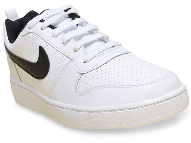 Tênis Masculino Nike 838937-100 Court Borough Low Branco/preto
