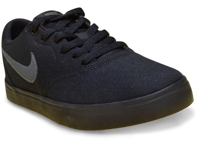 Tênis Masculino Nike 843896-002 sb Check Solar Canvas Preto