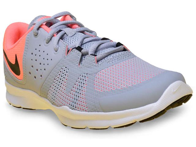 Tênis Feminino Nike 844651-004 Core Motion tr 3 Cinza/rosa Neon