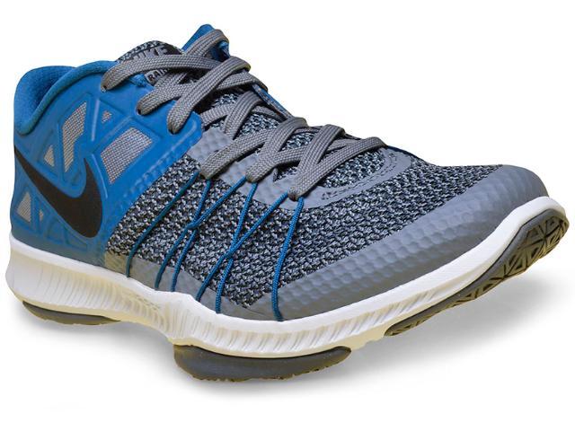 Tênis Masculino Nike 844803-004 Zoom Train Incredibly Fast Azul/cinza