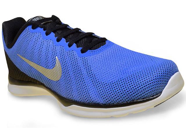Tênis Masculino Nike 852449-400  in Season tr 6 Azul/preto