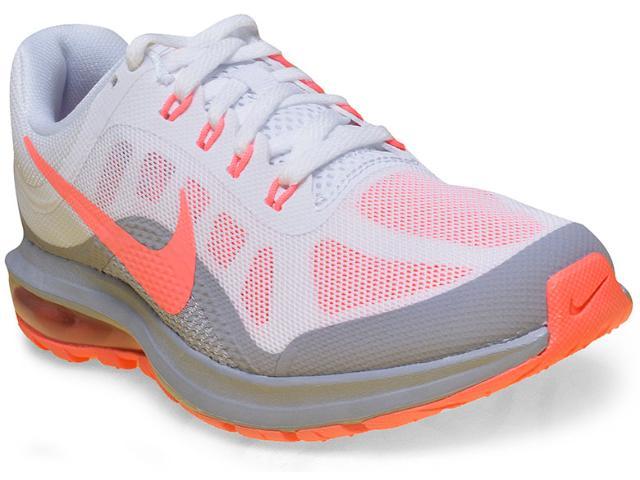 Tênis Feminino Nike 852445-106 Air Max Dynasty 2 Branco/cinza/coral