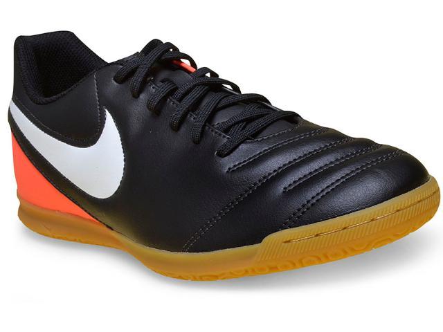 Tênis Masculino Nike 819234-018 Tiempox Rio Iii Preto/laranja