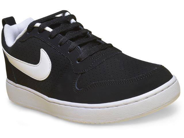 Tênis Masculino Nike 838937-010 Court Borough Low  Preto/branco