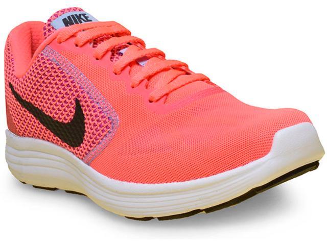 Tênis Feminino Nike 819303-602 Revolution 3 Rosa Neon