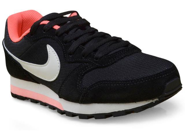 Tênis Feminino Nike 749869-004 md Runner 2 Preto/branco/rosa Neon