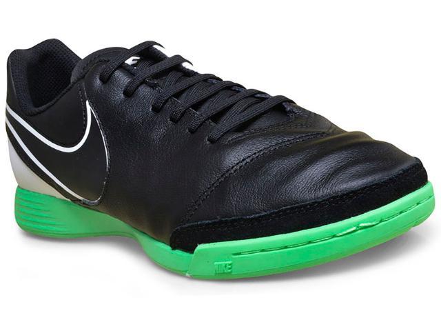 Tênis Masculino Nike 819215-002 Tiempo Genio ii  Preto/verde/branco
