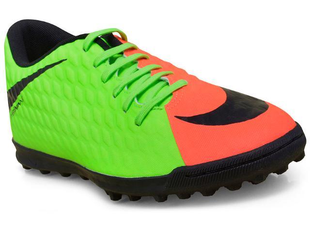Tênis Masculino Nike 852545-308 Hypervenomx Phade Iii tf  Limão/coral