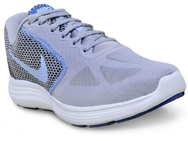 Tênis Feminino Nike 819303-014 Revolution 3 Cinza/lilas