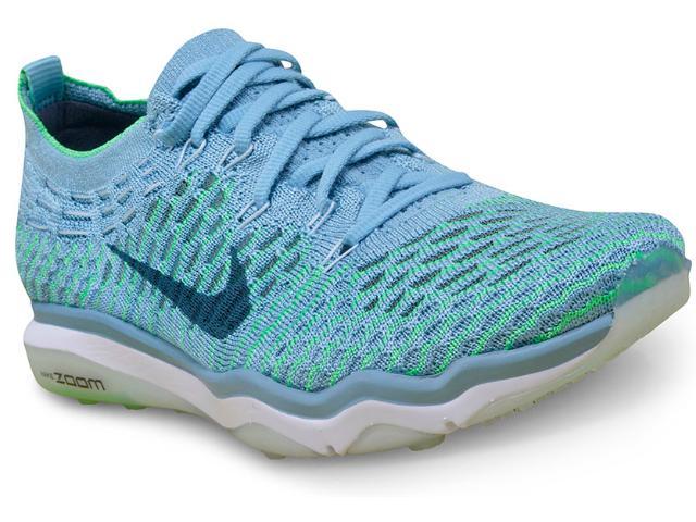 Tênis Feminino Nike 850426-401 w Air Zoom Fearless Flyknit Azul Claro/verde