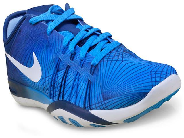 Tênis Feminino Nike 833424-400 Wmns Free tr 6 Prt  Azul