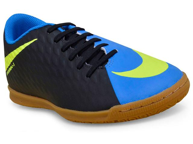 Tênis Masculino Nike 852543-004 Hypervenom Phade Iii Preto/azul/limão