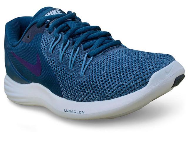 Tênis Feminino Nike 908998-400 Wmns Lunar Apparent  Azul Petróleo