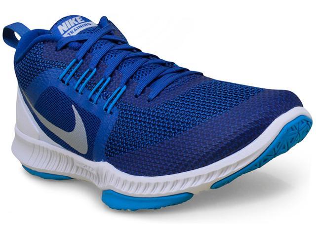 Tênis Masculino Nike 917708-400 Zoom Domination Training Azul/branco