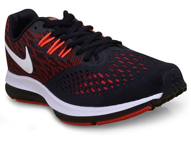 Tênis Masculino Nike 898466-006 Zoom Winflo 4  Preto/vermelho/branco