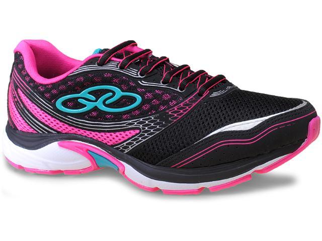 Tênis Feminino Olympikus Circuit 3 101 Preto/pink